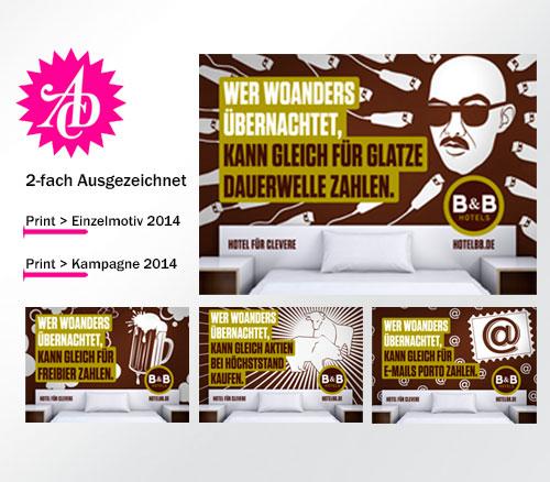 ADC 2-fach Auszeichnung für B&B Kampagne