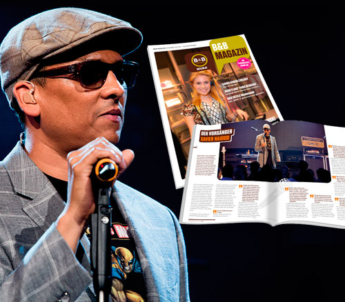Xavier Naidoo im B&B Magazin
